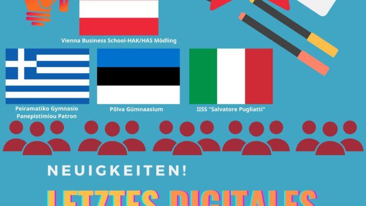Πρόγραμμα Erasmus+ «AVE-Ausgewähltes Virtuelles Europa – Επιλεγμένη εικονική Ευρώπη»